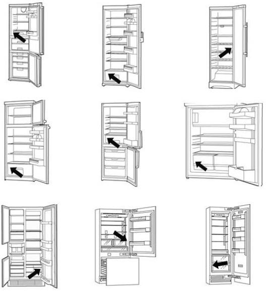 Заводская табличка на холодильниках Bosch